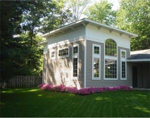 Sharon Lange's West Michigan art studio overlooking Spring Lake