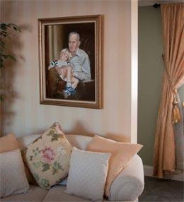 Grandpa's Lap oil painting